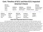cont timeline of 9 11 and how 9 11 impacted america s future