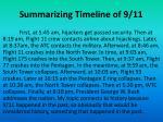 summarizing timeline of 9 11