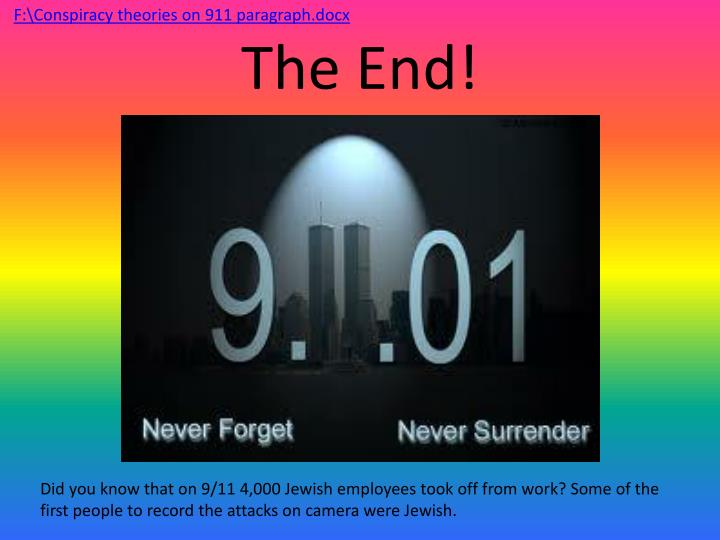 F:\Conspiracy theories on 911 paragraph.docx