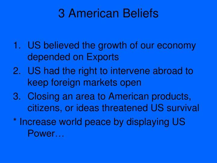 3 American Beliefs