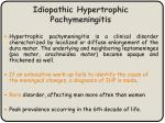 idiopathic hypertrophic pachymeningitis