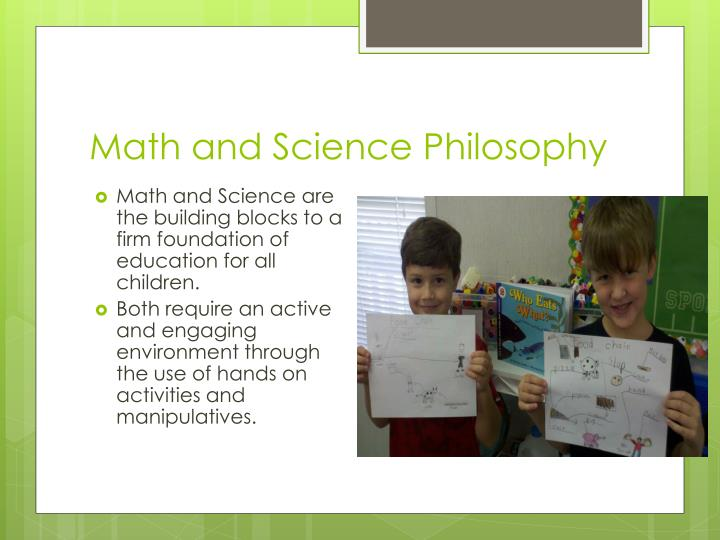 Math and Science Philosophy