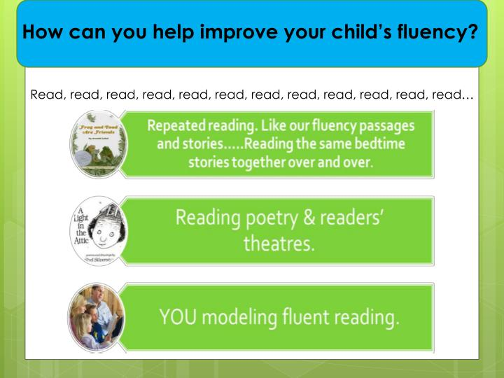 How can you help improve your child's fluency?