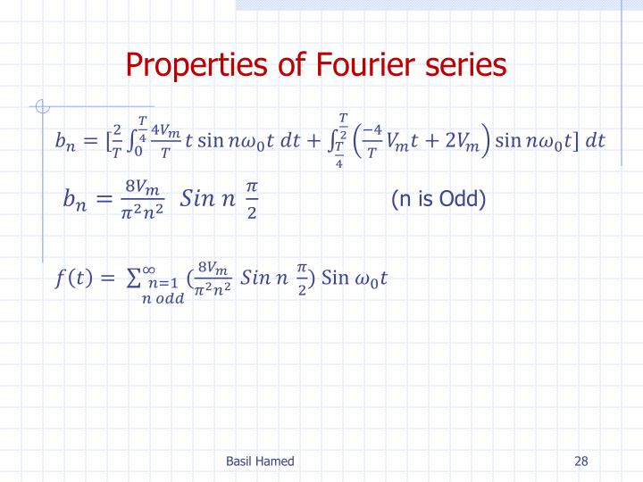 Properties of Fourier series