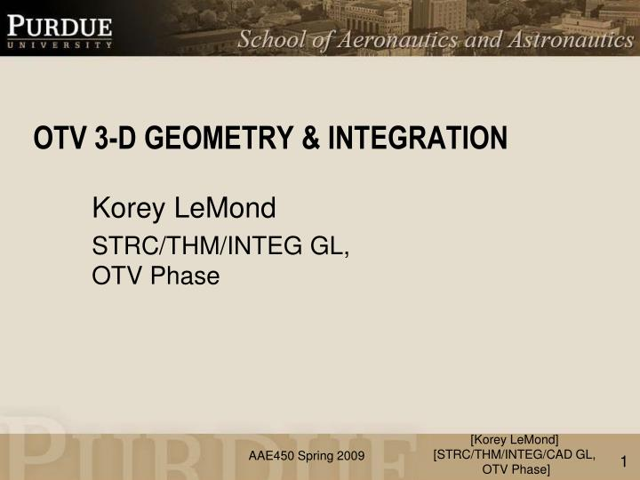 Otv 3 d geometry integration