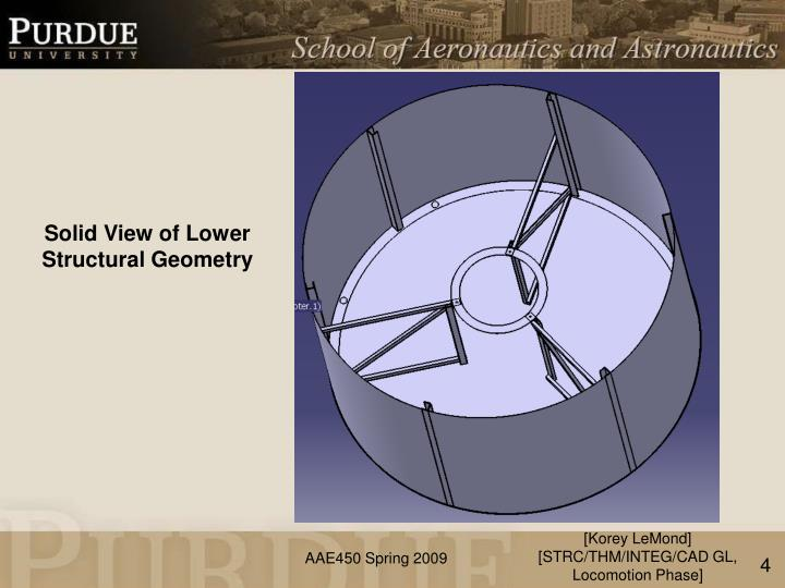 Solid View of Lower Structural Geometry