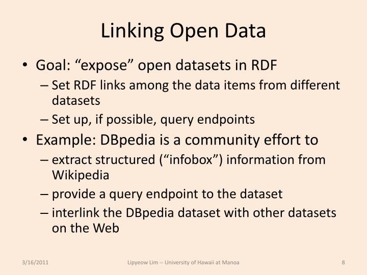 Linking Open Data