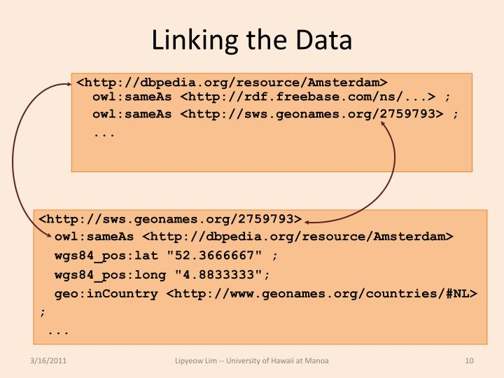 Linking the Data