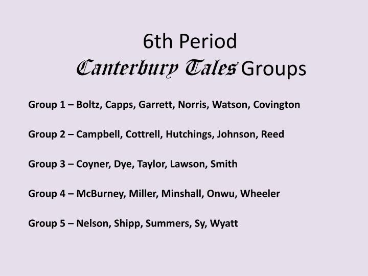 6th Period