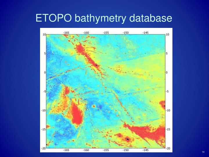 ETOPO bathymetry database