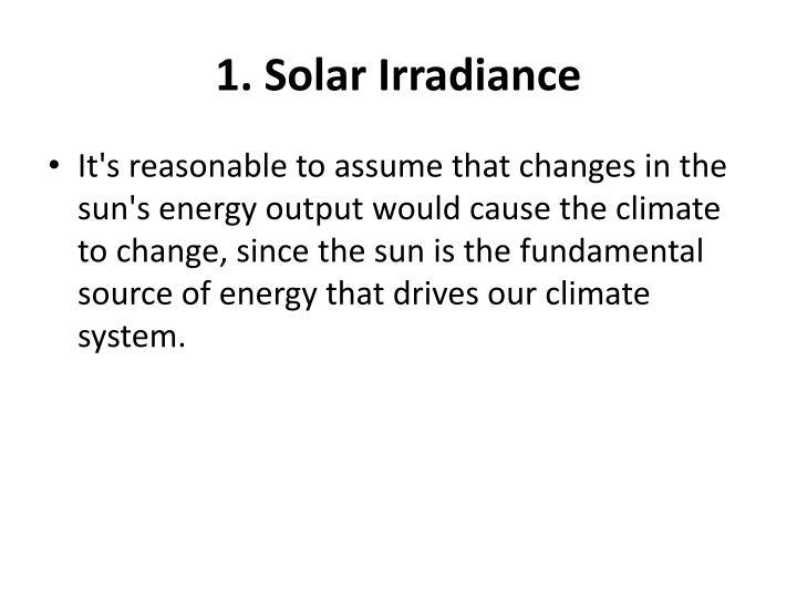 1. Solar Irradiance