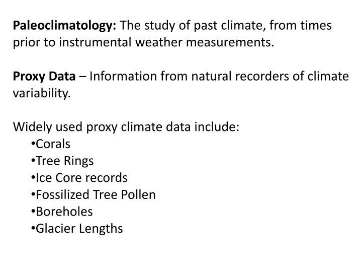 Paleoclimatology:
