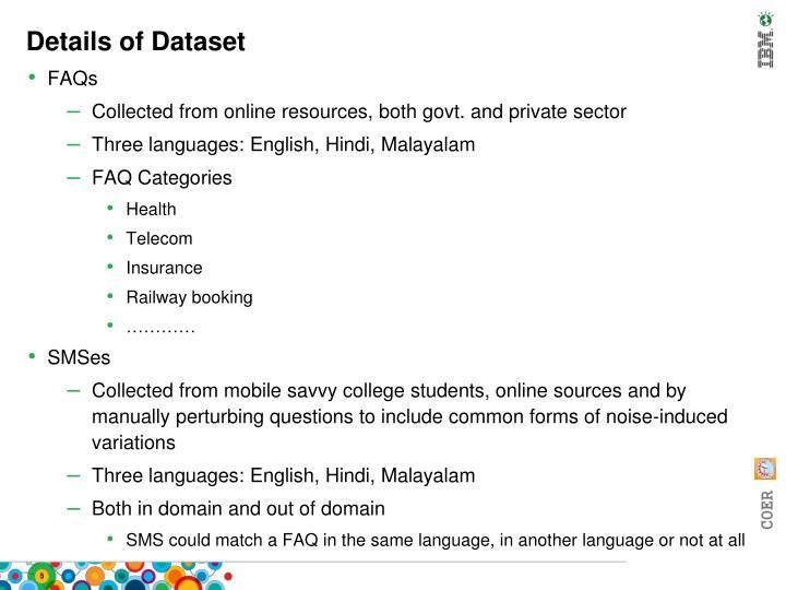 Details of Dataset