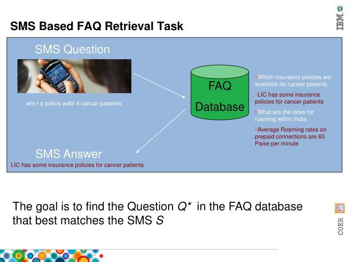 SMS Based FAQ Retrieval Task