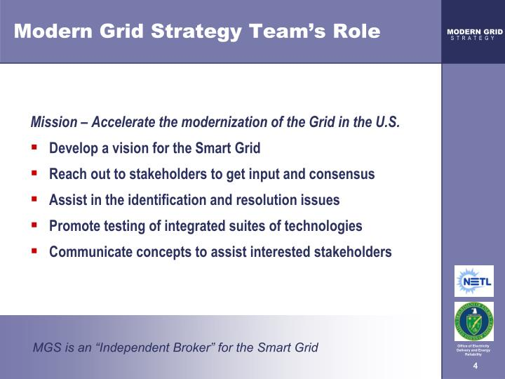 Modern Grid Strategy Team's Role