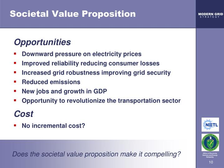 Societal Value Proposition