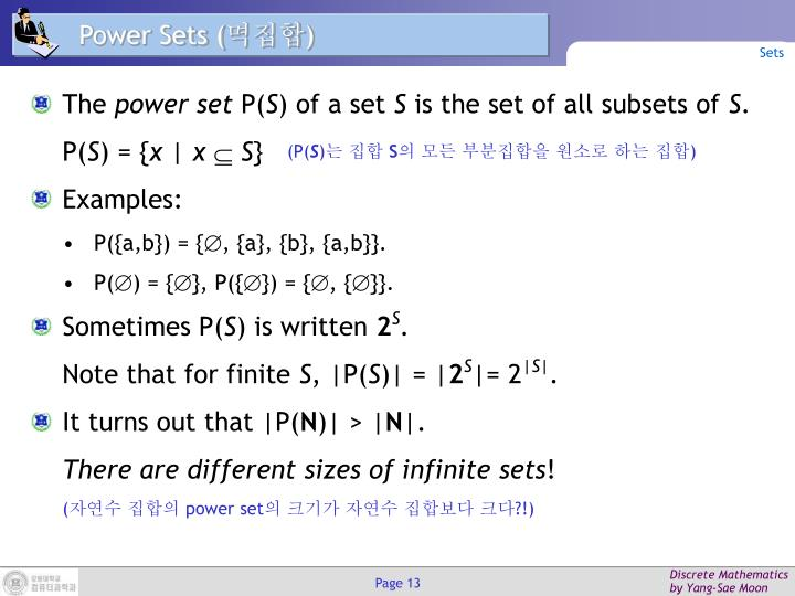Power Sets (