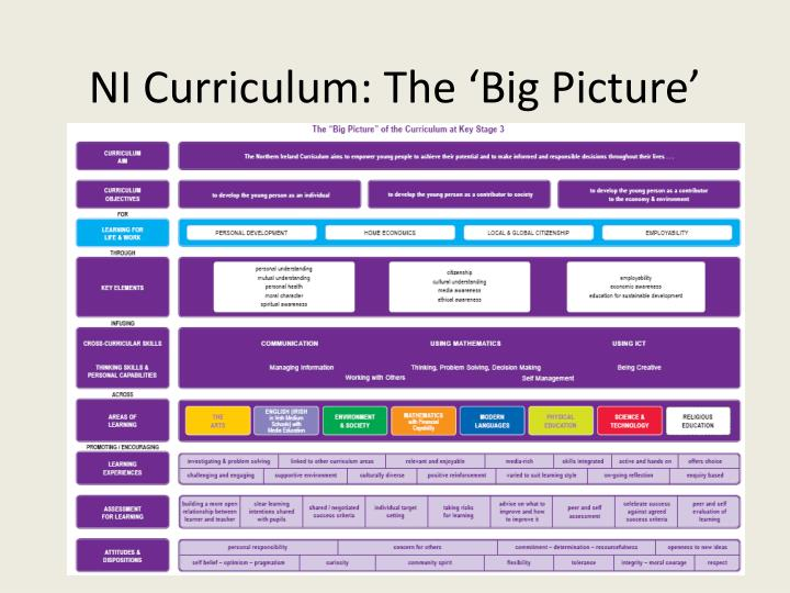 NI Curriculum: The 'Big Picture'