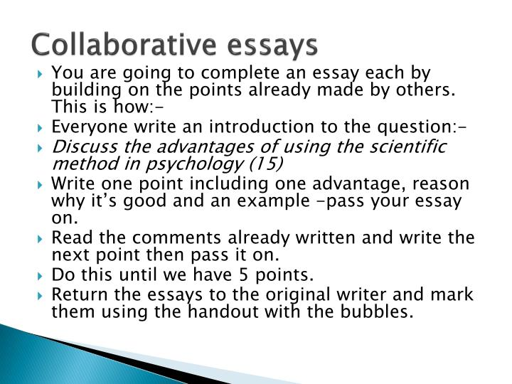 Collaborative essays