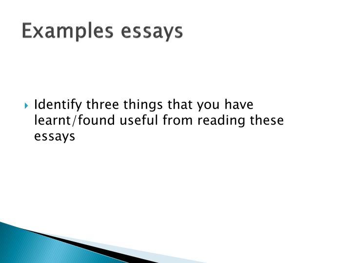 Examples essays