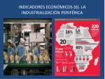 indicadores econ micos 6 la industrializaci n perif rica
