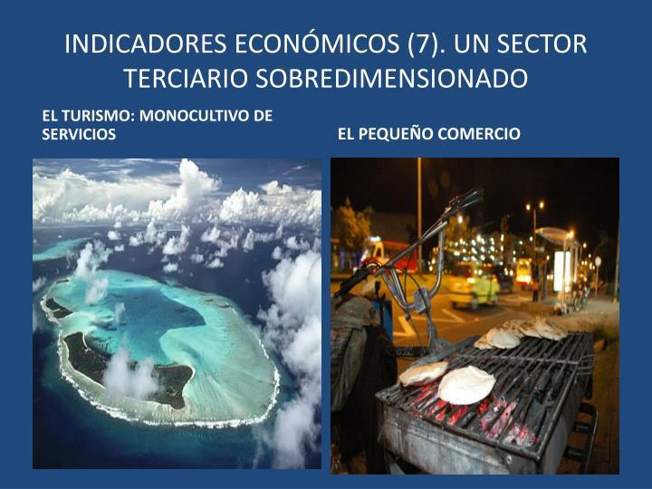 INDICADORES ECONÓMICOS (7). UN SECTOR TERCIARIO SOBREDIMENSIONADO