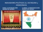indicadores pol ticos 1 dictadura y democracia