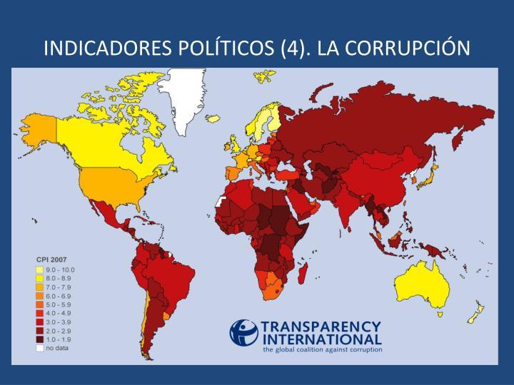 INDICADORES POLÍTICOS (4). LA CORRUPCIÓN