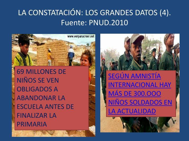 LA CONSTATACIÓN: LOS GRANDES DATOS (4). Fuente: PNUD.2010