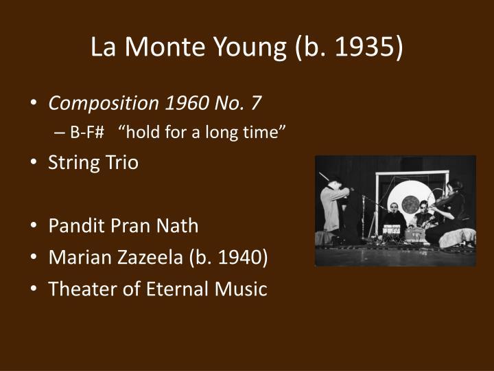 La Monte Young (