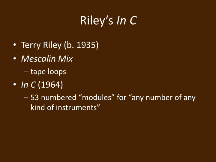 Riley's