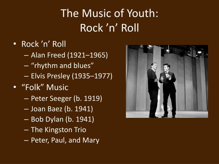 The music of youth rock n roll
