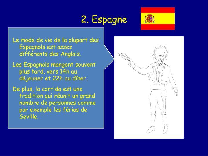 2. Espagne