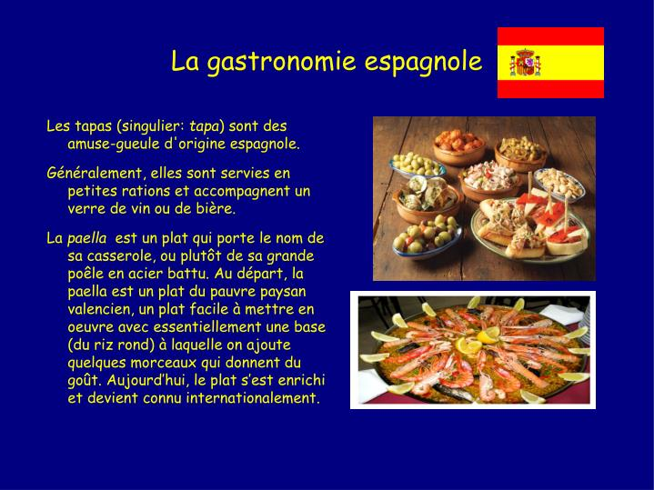 La gastronomie espagnole