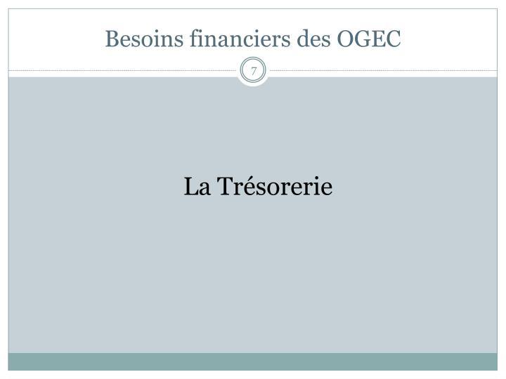 Besoins financiers des OGEC