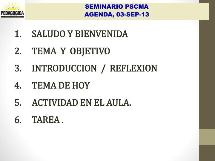 SALUDO Y BIENVENIDA