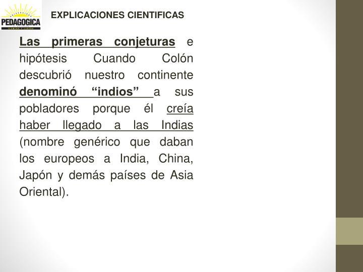 EXPLICACIONES CIENTIFICAS