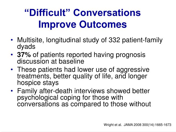 """Difficult"" Conversations Improve Outcomes"