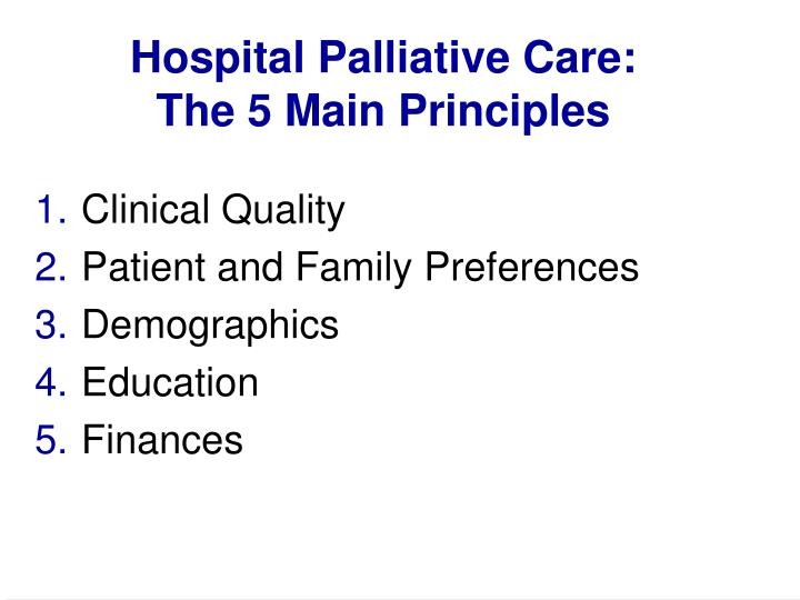 Hospital Palliative Care: