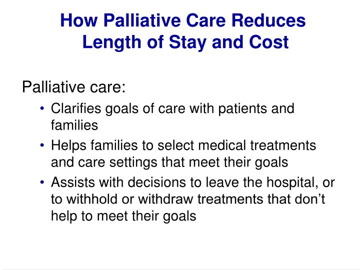 How Palliative Care Reduces