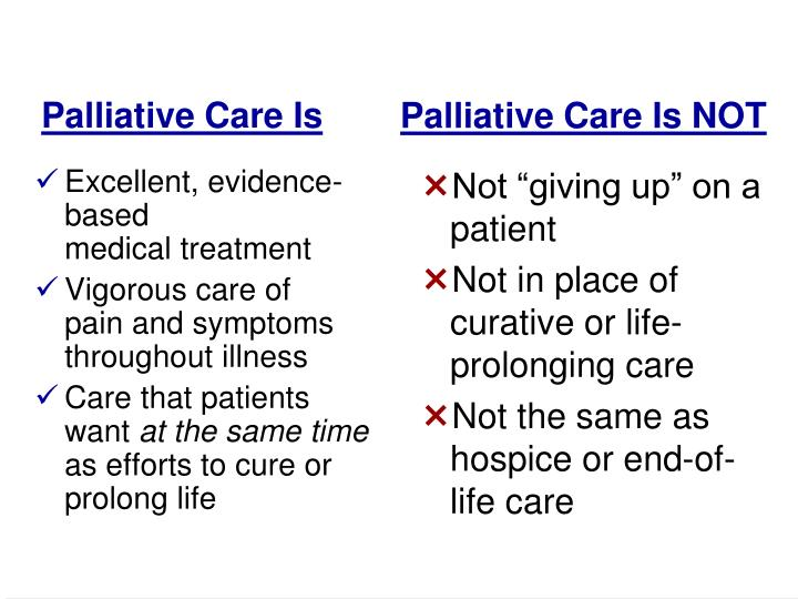 Palliative Care Is