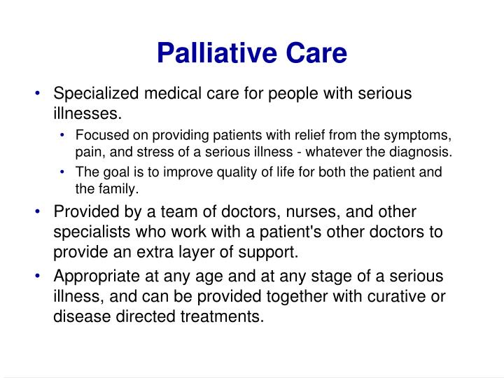 Palliative care1