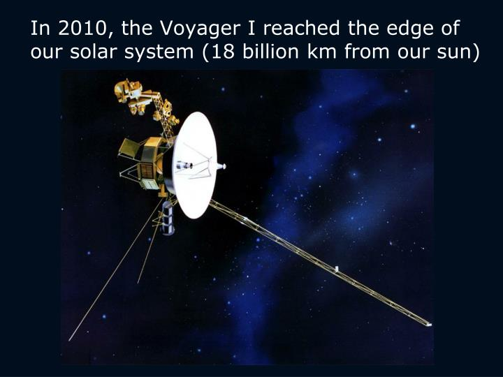 PPT - In 2010, the Voyager I reached the edge of our solar ...