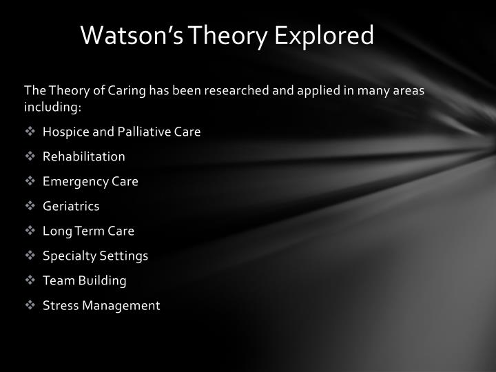 advantages and disadvantages of watson s nursing theory Cnc - nic: frequently asked questions interventions and outcomes heralds a new era in the development of nursing theory as more nurses understand the advantages of using standardized language and desire this in purchases of new information systems.