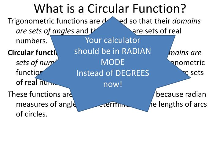 What is a Circular Function?