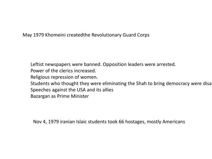 May 1979 Khomeini