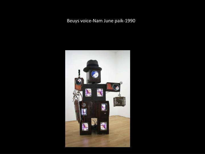 Beuys voice-Nam June paik-1990
