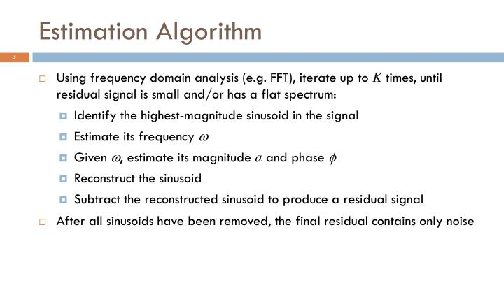 Estimation Algorithm