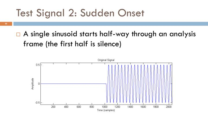 Test Signal 2: Sudden Onset