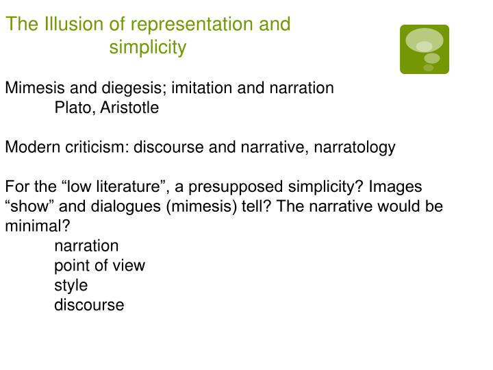 The Illusion of representation and simplicity